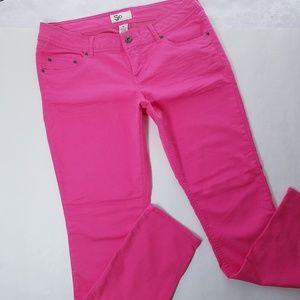 SO Skinny Jeans Jeggings Hot Pink Juniors 15